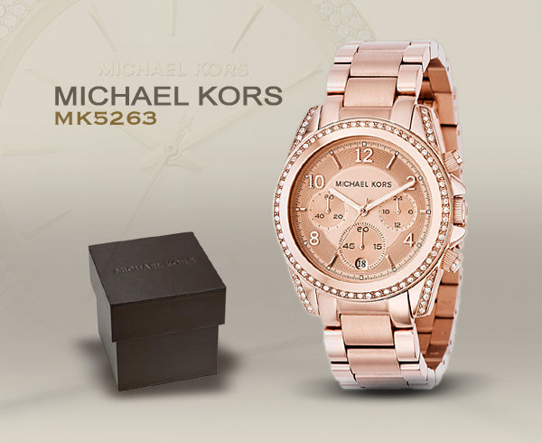 michael kors chronograph mk5263 michael kors uhren fur. Black Bedroom Furniture Sets. Home Design Ideas